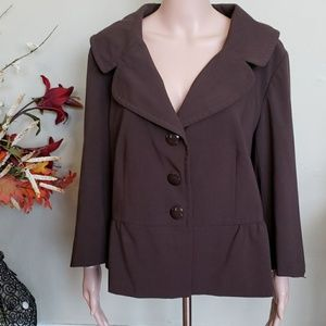 Apt. 9 brown peplum blazer